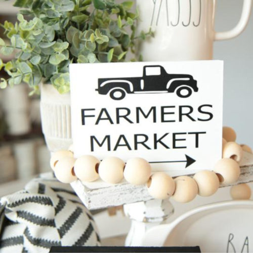 Set of 4 Kitchen Mini Signs-Farmers Market